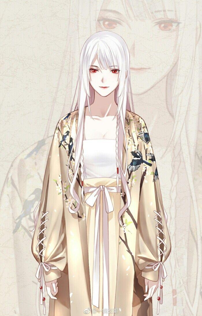 Pin oleh 翊廷 廖 di 彩漫 Pejuang wanita, Rambut putih, Gambar