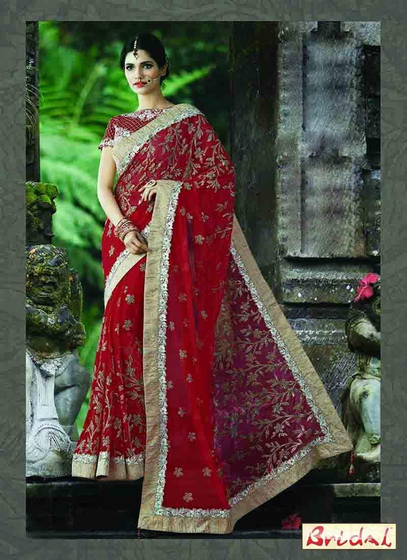 2b6cd5abf8 Best Indian Bridal Saree Designs For Weddings In 2019 | Wedding ...