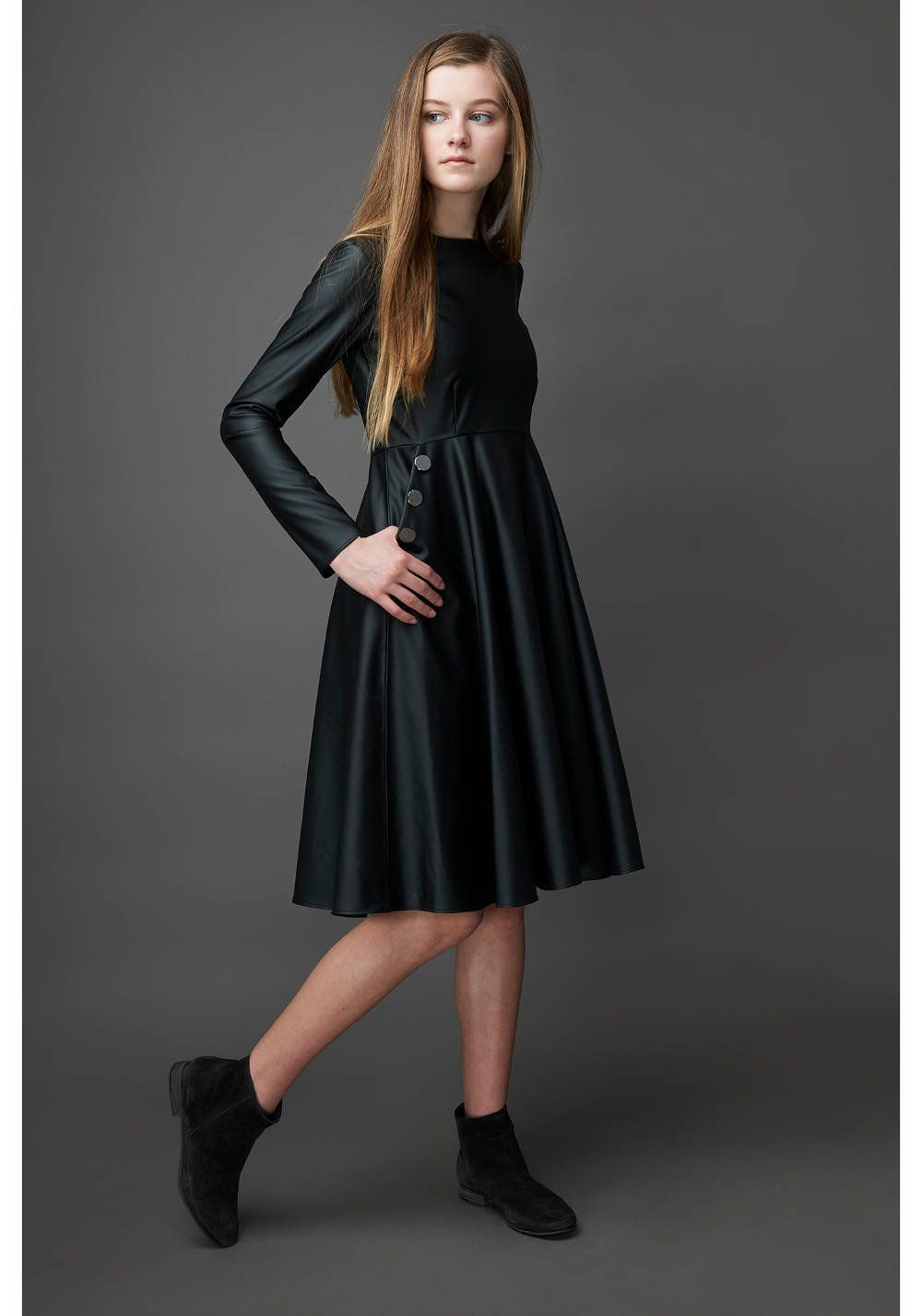 ZAIKAMOYA Faux Leather Dress