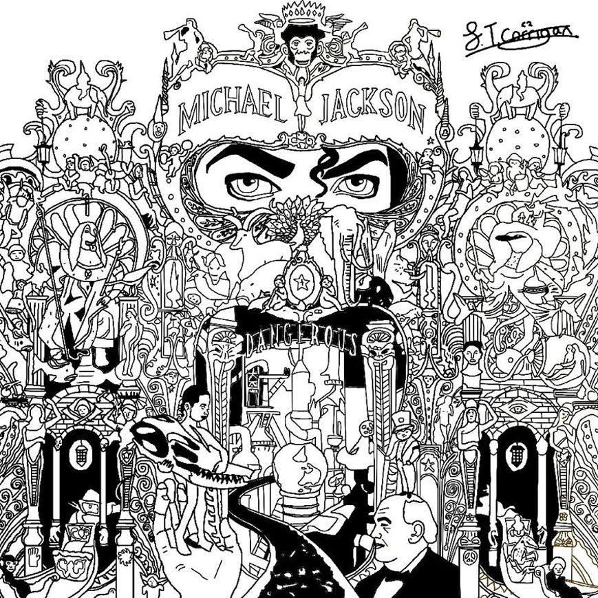 Michael Jackson Dangerous Unclassifiable Coloring Pages For