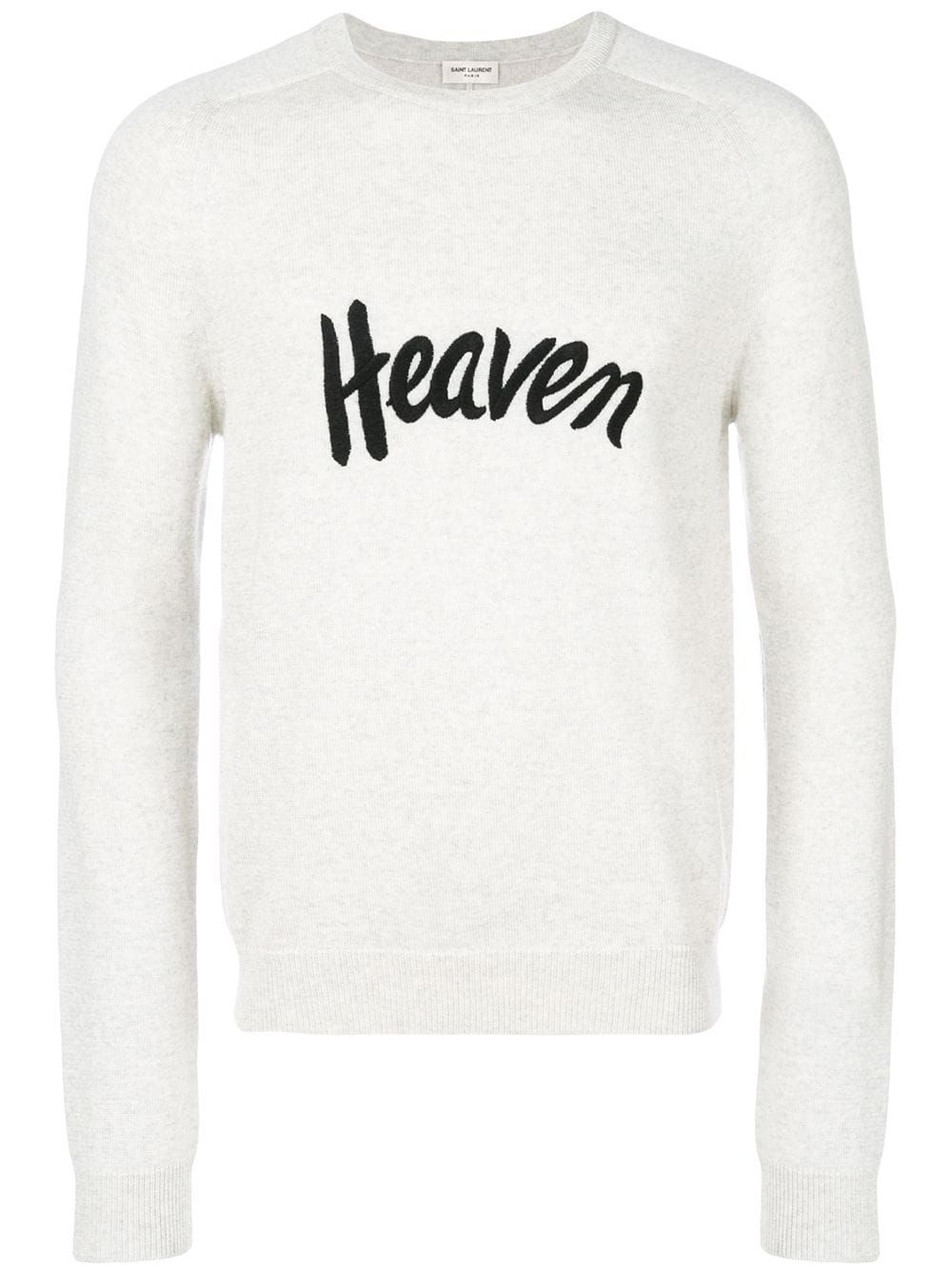 9f32d924a88 Saint Laurent slogan sweater - Grey in 2019 | Products | Sweaters ...