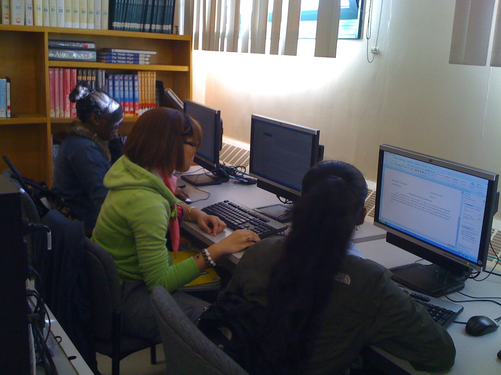 Students working in computer room of Hillcrest High School