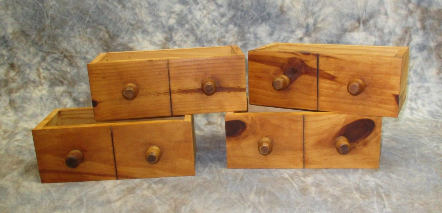 4 Vintage Wood Storage Drawers Organizer Storage Bins Arts Crafts Cubbyholes H Cubby Holes Wooden Drawers Wood Storage Wooden Drawers Vintage Wood