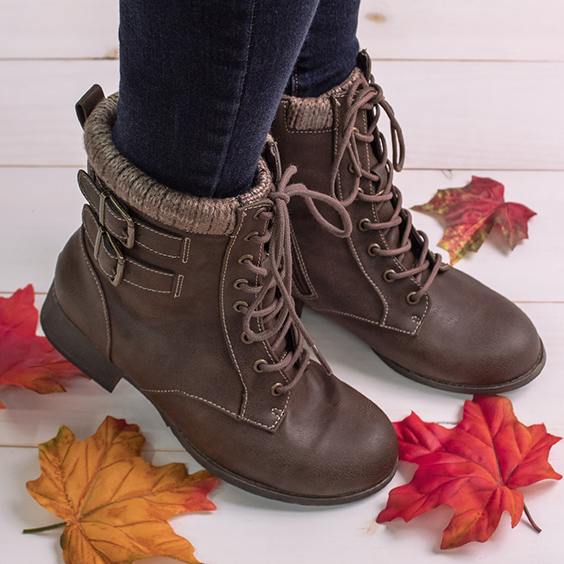 Womens casual boots, Brown boots women