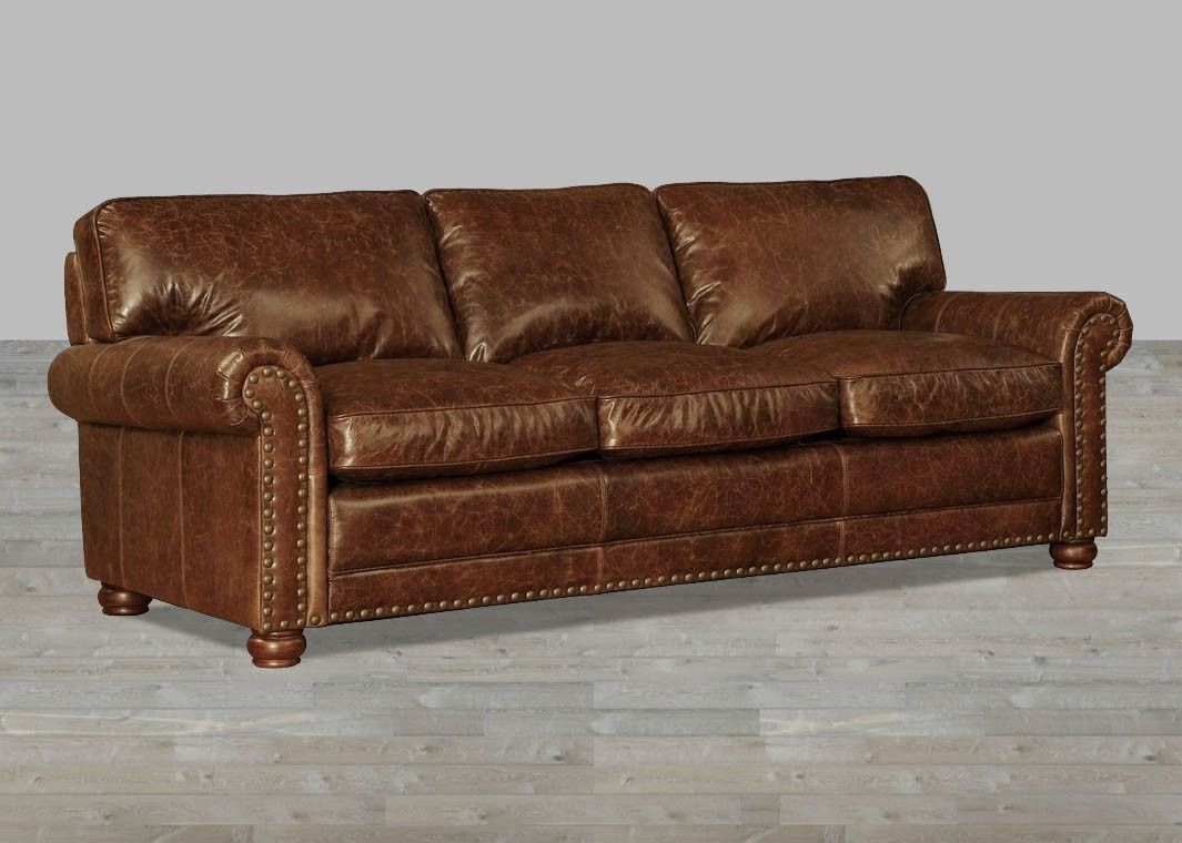 100 Full Grain Leather Sofa In Vintage Coco Brompton Full Grain