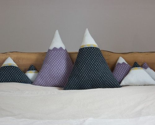 Mountain Cushion contemporary pillows