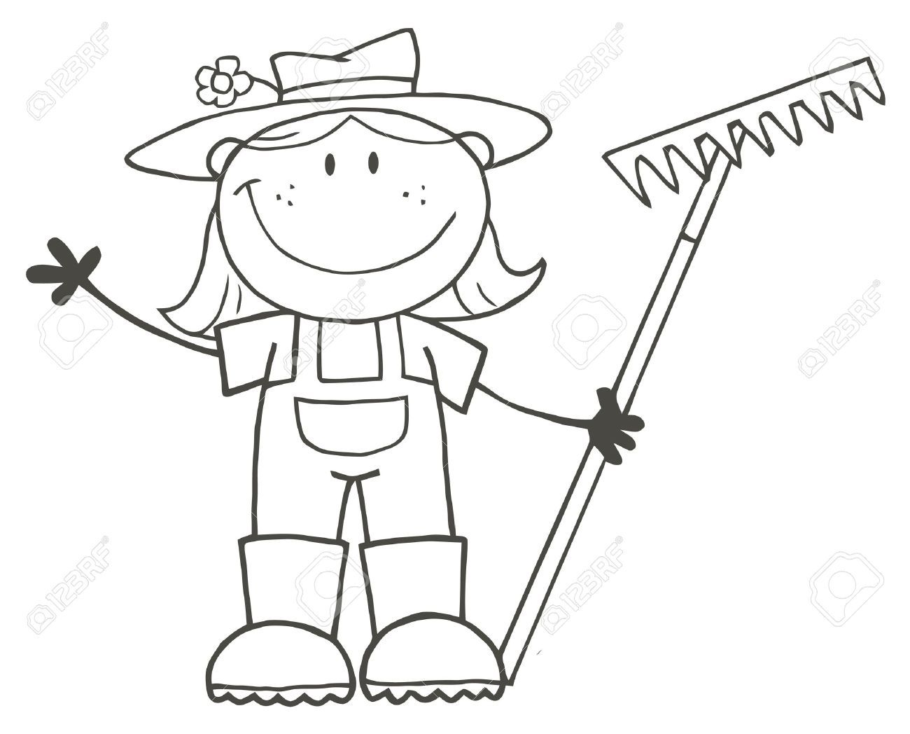Gardening Cartoon Stock Photos Pictures Royalty Free Gardening