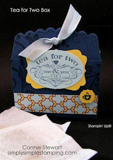 Tea for Two Tea bag holder - Scallop Envelope die - Stampin Up