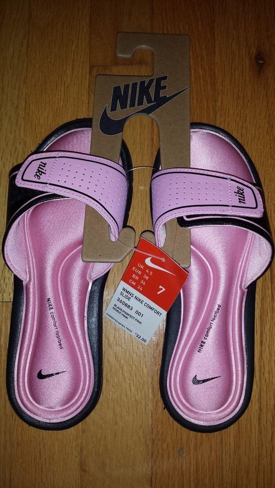 7c009be63767 NIB Women s Nike Comfort Slide Sandals Slippers Flip Flops Size 7  Nike   FlipFlops