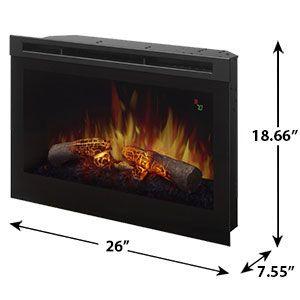 Dimplex 25 In Electric Fireplace Insert Dfr2551l In 2020