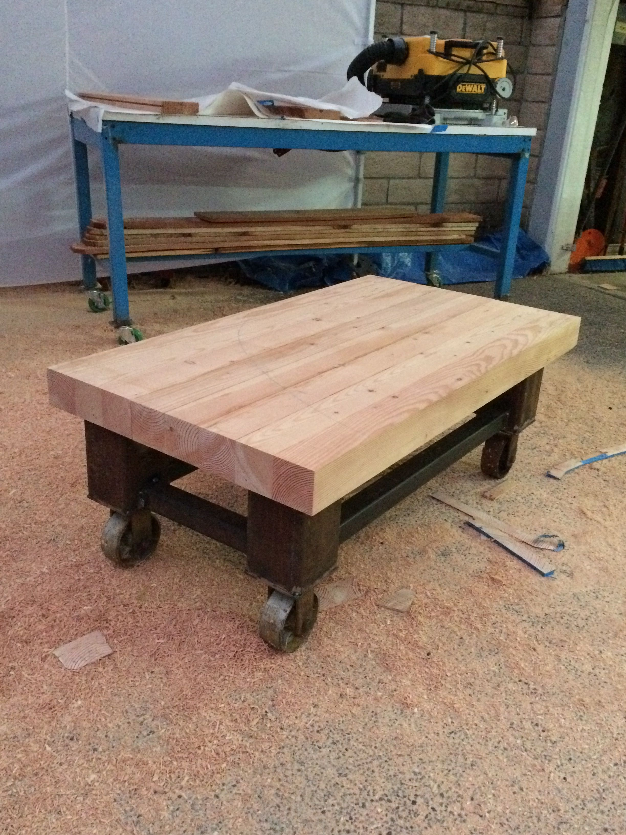 Butcher block coffee table that i built coffee table