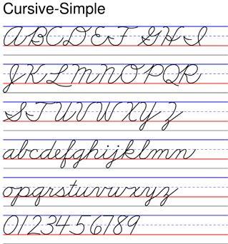 Cursive Simple Cursive Simple Similar To Zaner Bloser