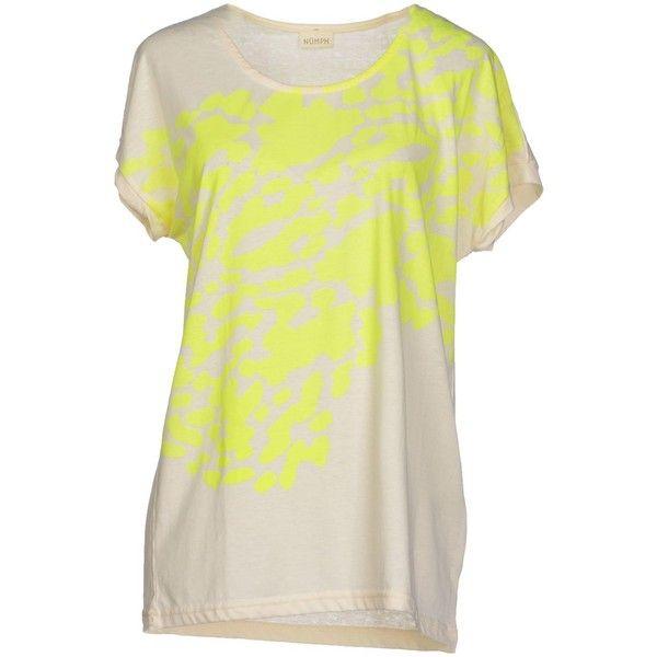 Numph T-shirt ($26) ❤ liked on Polyvore featuring tops, t-shirts, yellow, jersey top, yellow tee, yellow t shirt, yellow top and short sleeve pocket tee