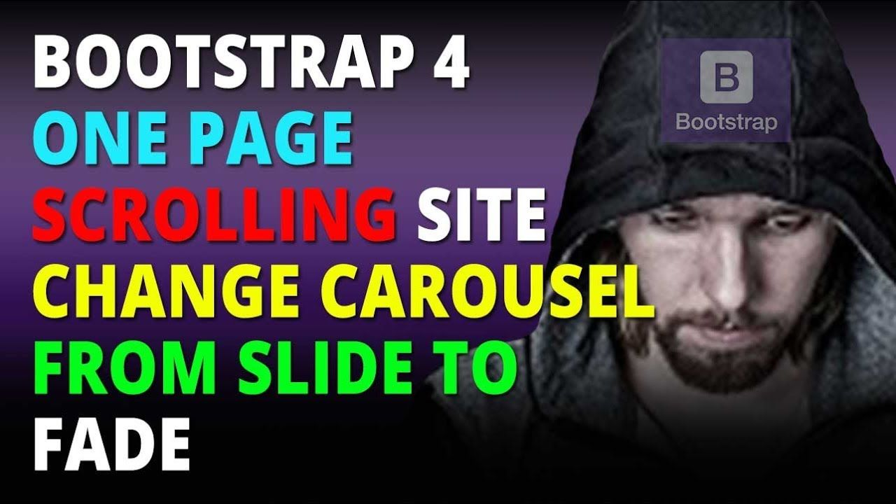 Bootstrap 4 One Page Scrolling Site Change Carousel From