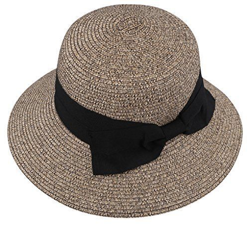 5a58dd62 Livingston Women's Wide-Brim Plaited Straw Sunhat with Large Decorative Bow  Hats #Livingston