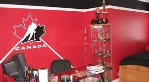 Team Canada Walls Boys Bedroom Paint Hockey Room Hockey Bedroom