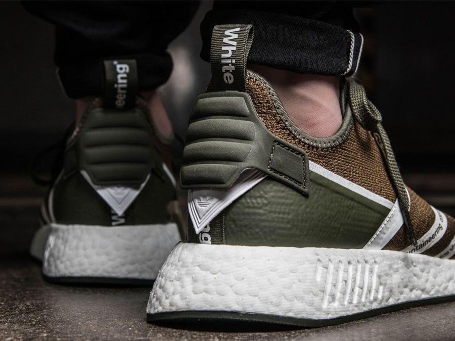 Adidas x blanco Mountaineering NMD R2 PK (Olive / weiß) zapatillas