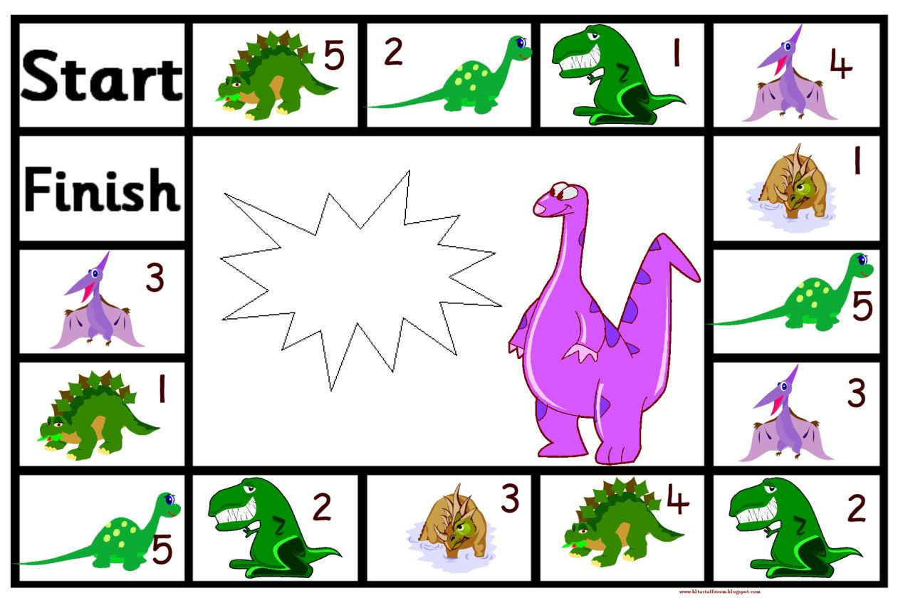Lots Of Dinosaur Themed Number Games
