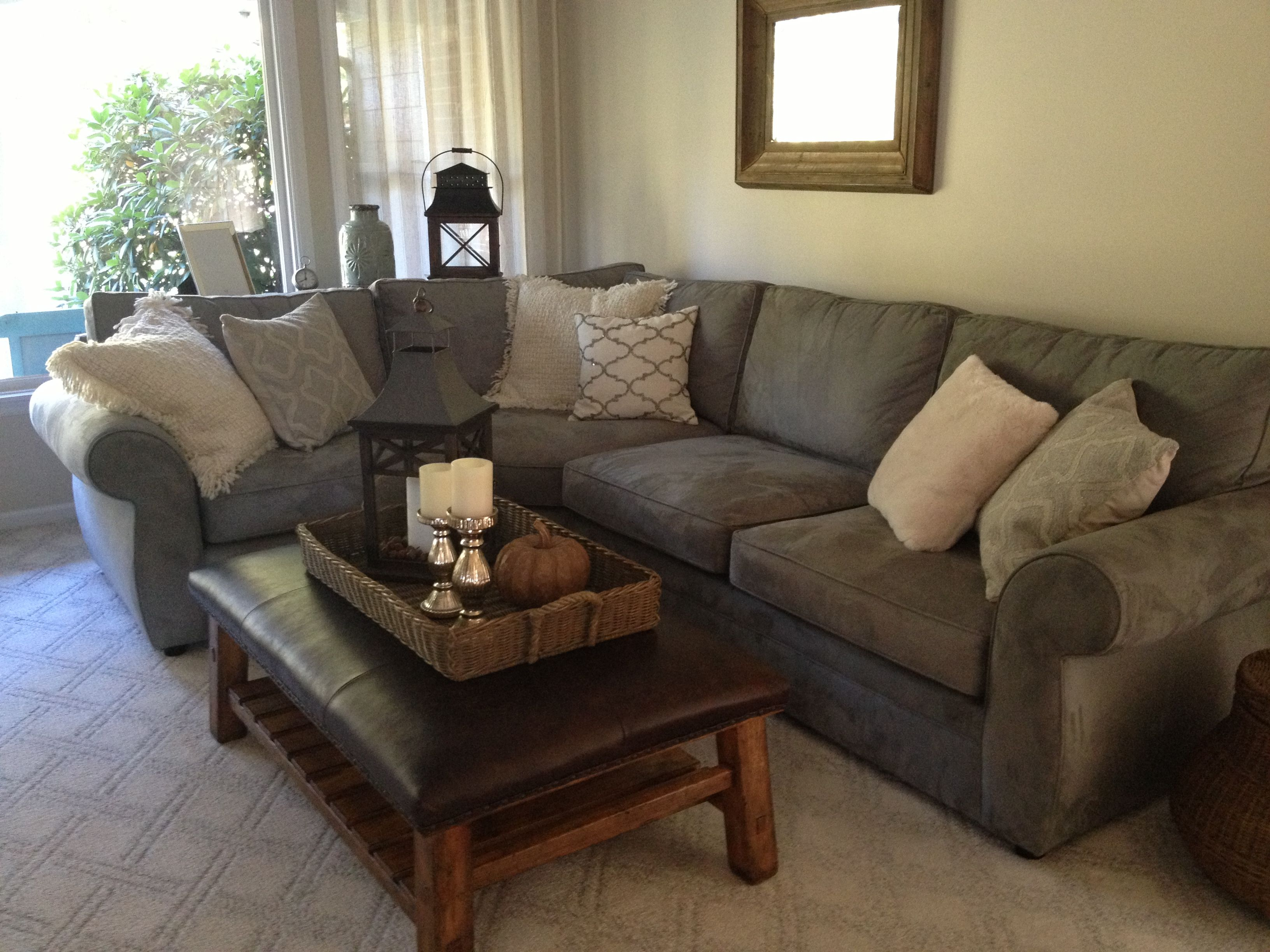 Pottery barn pearce couch New Family Room Pinterest