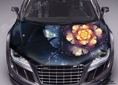 Fit Any Car Sticker Decal Vinyl Color Hood Flowers EBay - Best automobile graphics and patternsbest stickers on the car hood images on pinterest cars hoods