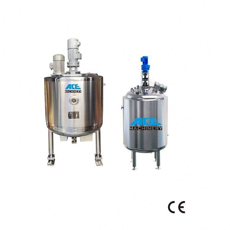 Factory Price Chemical Batch Reactor 1000l 5000l Resin Mixer Reactor For Cosmetics Electric Heating Stainless Steel Tank