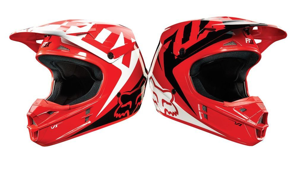 Fox Racing V1 Race Mx Snell Helmet Honda Red Medium Motocross Offroad Fox Racing Snell Helmets Motocross