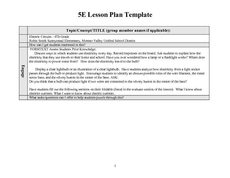 Electric Circuits Lesson Plan Lesson Planet Lesson Plans