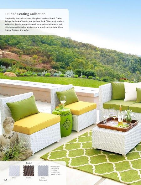 Pier 1 Ciudad Seating Yellow And Green Patio Furniture Looks