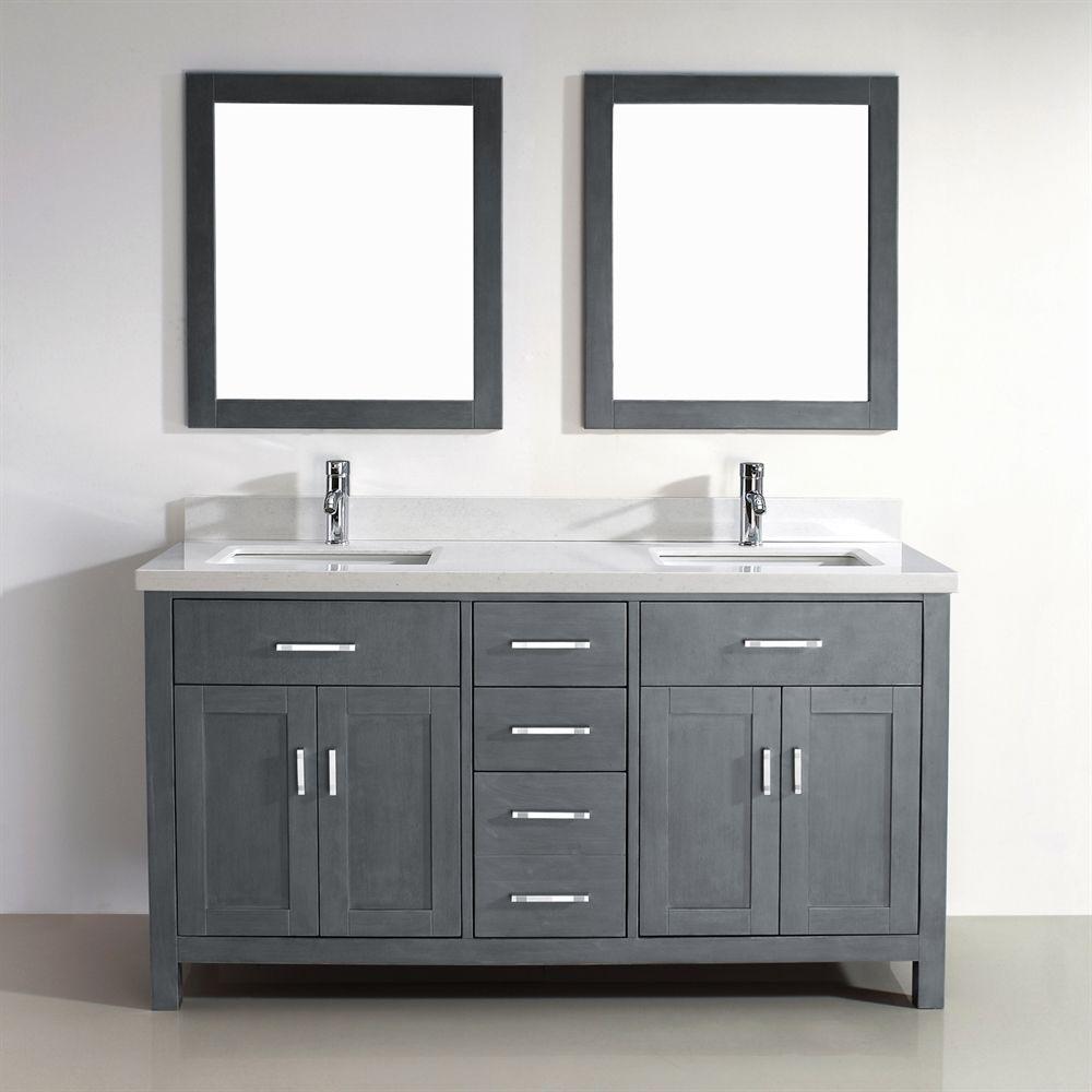 Shop Spa Bathe Kz63 Kenzie 63In Bathroom Vanity At Lowe's Canada Brilliant Shop Bathroom Vanities Design Decoration