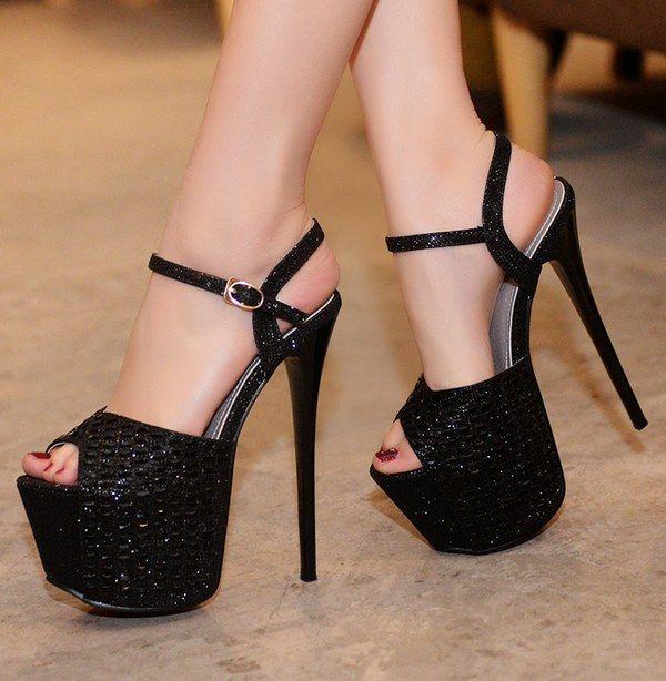 Stiletto heels platform, Heels