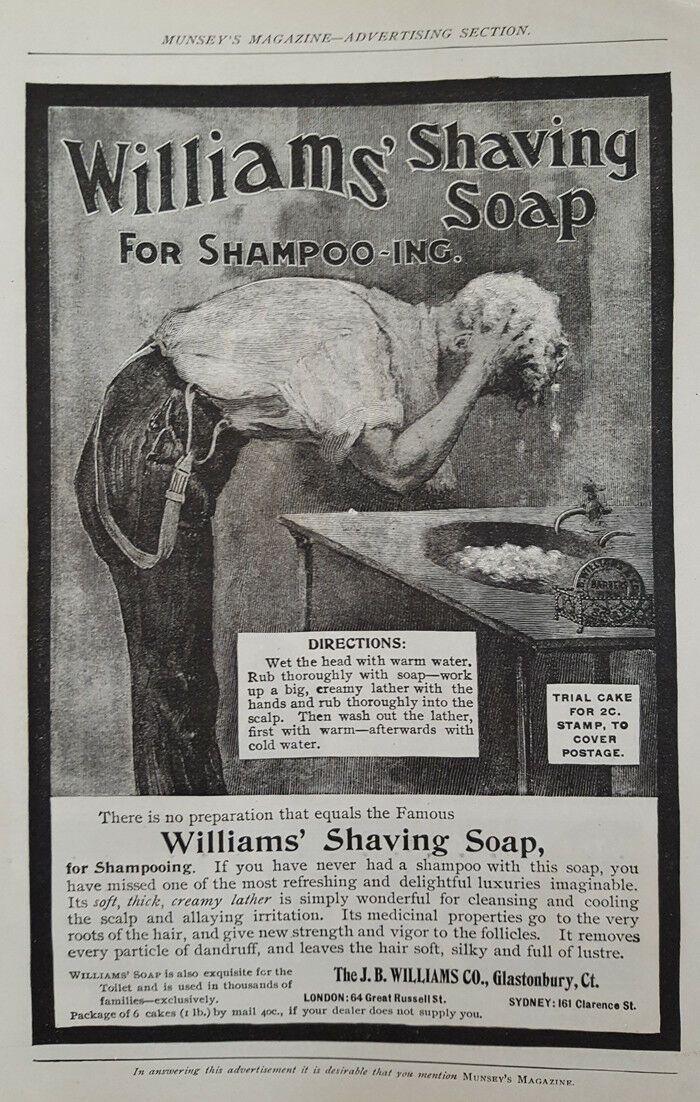 Williams' Shaving Soap For Shampoo INC. History of soap ...