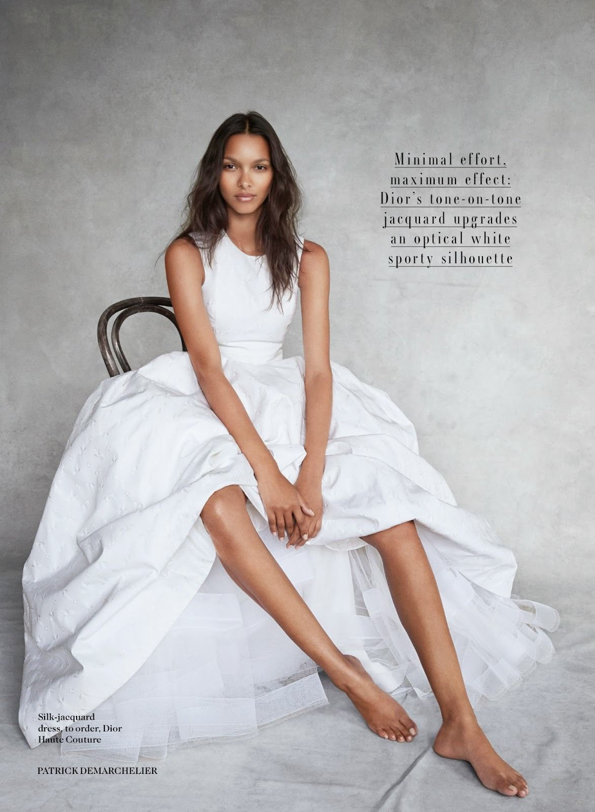 Lais Ribeiro by Patrick Demarchelier in Dior for Vogue UK