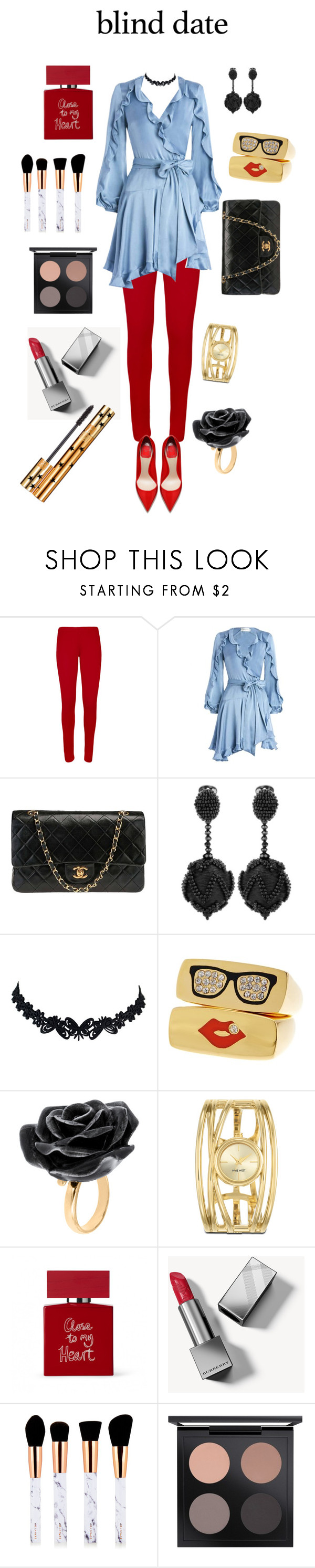 """Close to My Heart"" by danabuchmiller ❤ liked on Polyvore featuring WearAll, Zimmermann, Chanel, Oscar de la Renta, Nach Bijoux, Nine West, Bella Freud, Burberry, MAC Cosmetics and Yves Saint Laurent"