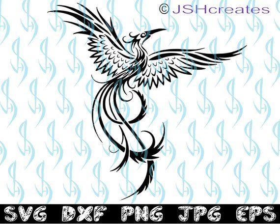 0fc3ec349 Svg Files For Cricut, Phoenix, Stencil, Cutting Files, Scrapbook Paper,  Shirt