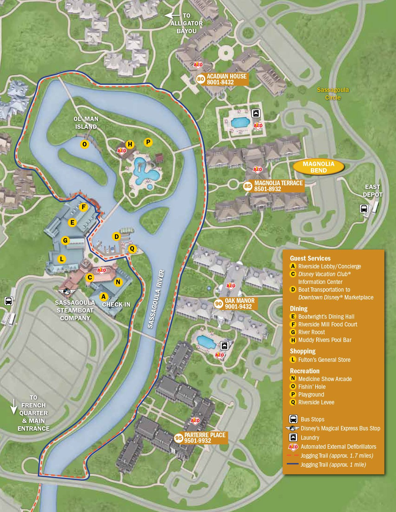 Port Orleans Riverside Resort Map | Disney World Maps | Disney ...