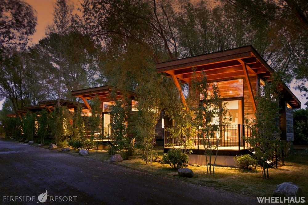 Fireside Resort S The Wedge Cabin In Jackson Hole Wyoming Tiny House Rentals Resort Cabins Tiny House