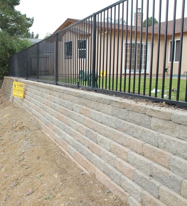 This Retaining Wall Project Took Place In Vallejo Ca Take A Look At The Complete Project At Http Ww Retaining Wall Concrete Contractor Landscape Contractor
