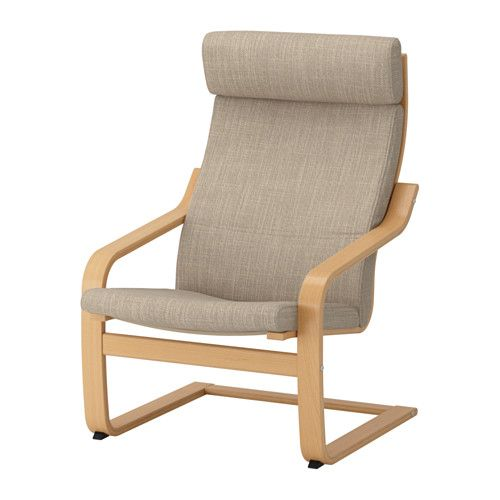 IKEA   POÄNG, Armchair, Hillared Beige , Layer Glued Bent Birch Frame Gives  Comfortable Resilience.A Variety Of Seat Cushion Designs Makes It Easy To  Change ...