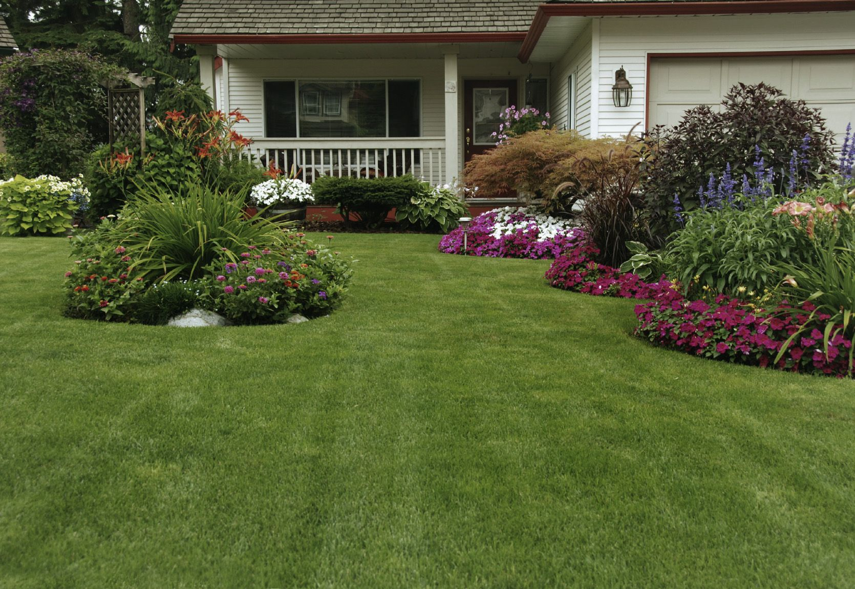 yards with sod initial cost of seeding is much less than