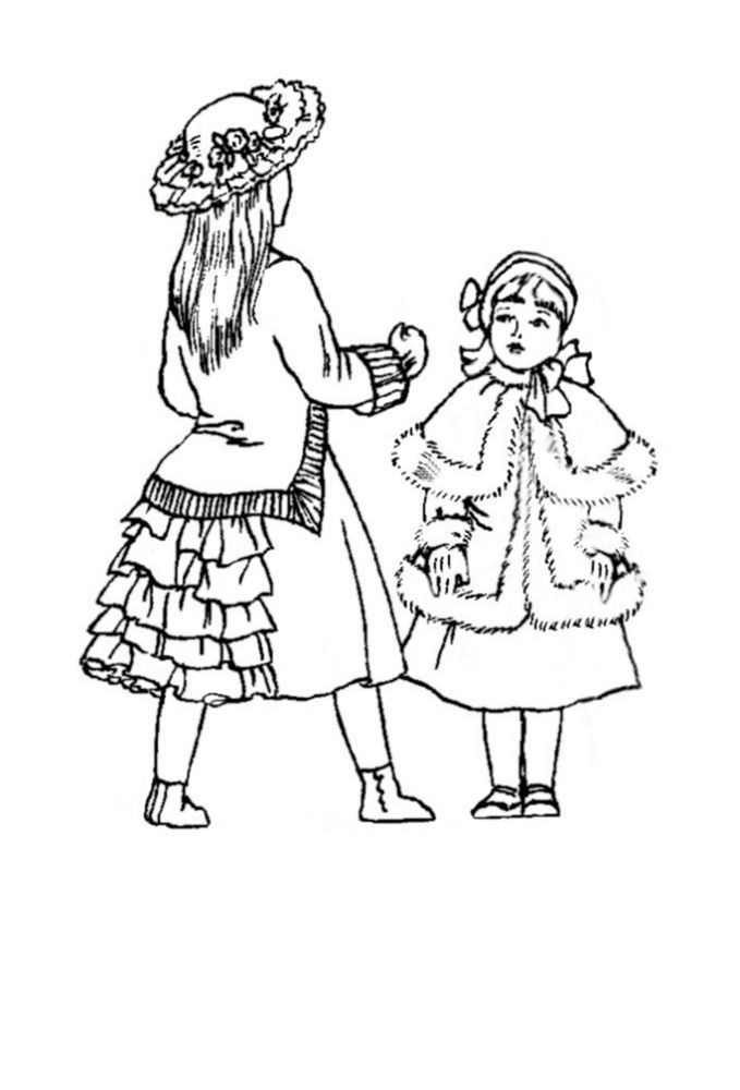 17 Pics of Victorian Little Girl Coloring Pages