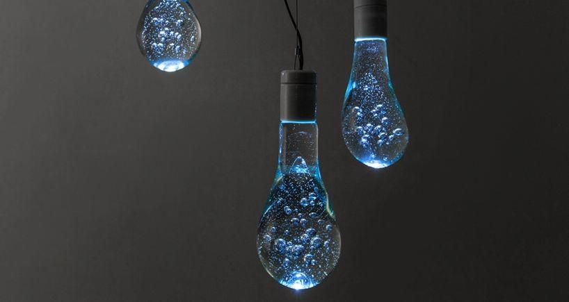 LED light bulbs that look like half-filled water balloons