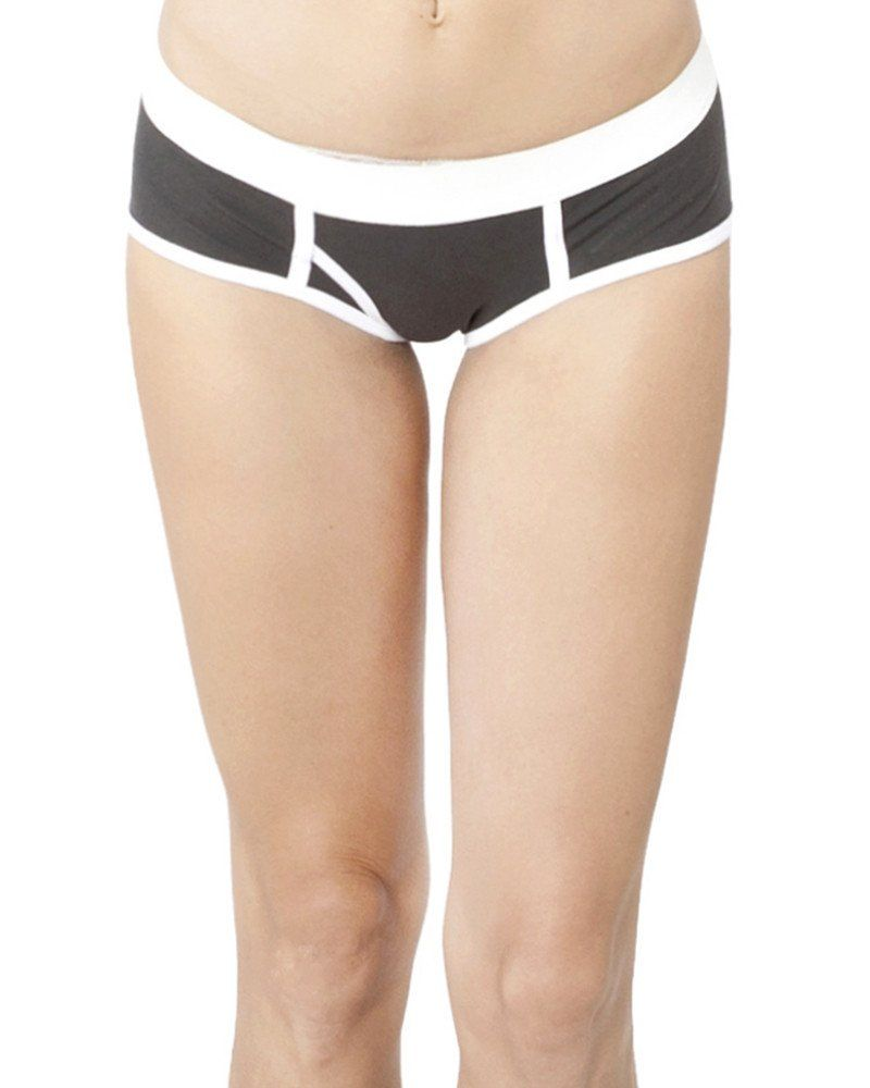 Charcoal Women's Y Front Undies Organic Cotton