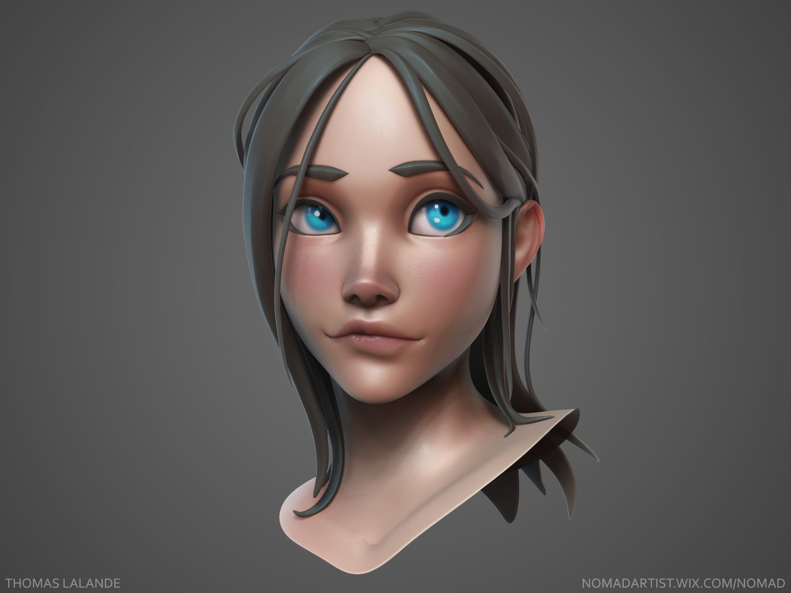 Anime Characters Zbrush : Girl sculpt thomas lalande on artstation at https