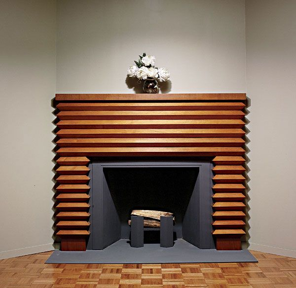 Art Deco Fireplace Mantel Readers Gallery Fine Woodworking