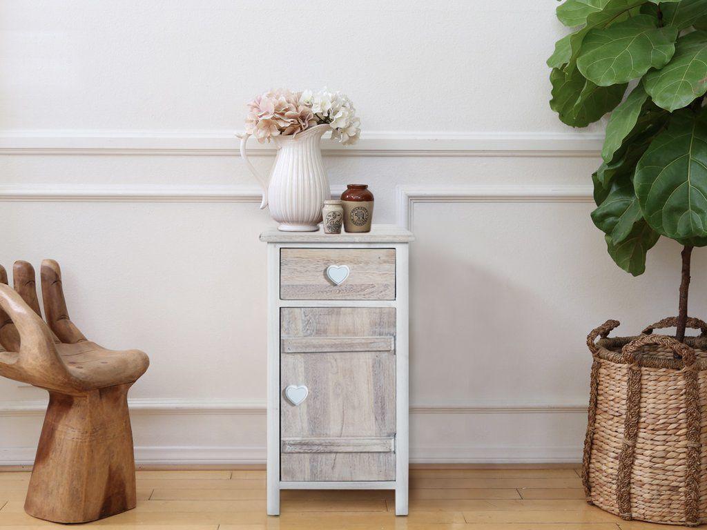 Mobili Piccoli ~ Comodino shabby chic ideale per i piccoli spazi in legno di