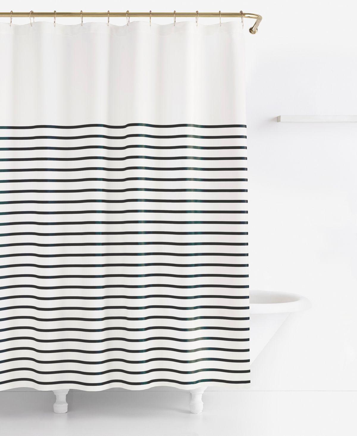 Kate Spade New York Harbour Stripe Shower Curtain Navy In 2020
