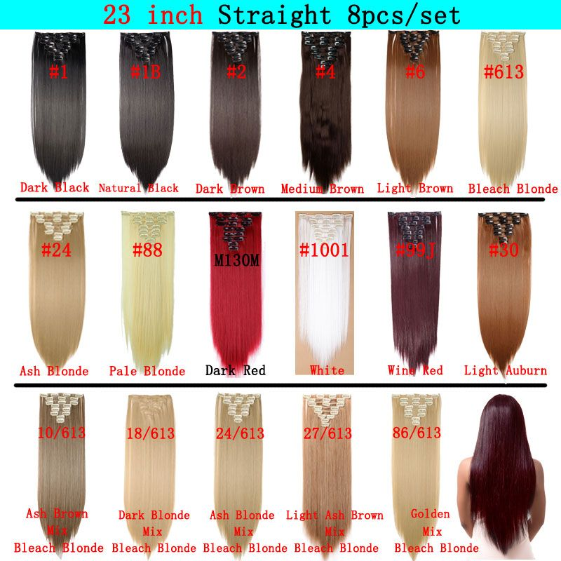 Snoilite Double Weft 22inch Curly 18 Clips In False Hair Styling
