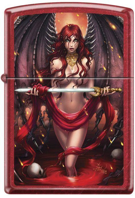 Dawn Mcteigue S Cara Sword Fantasy Zippo Lighter Fantasy Girl Art Fantasy Women