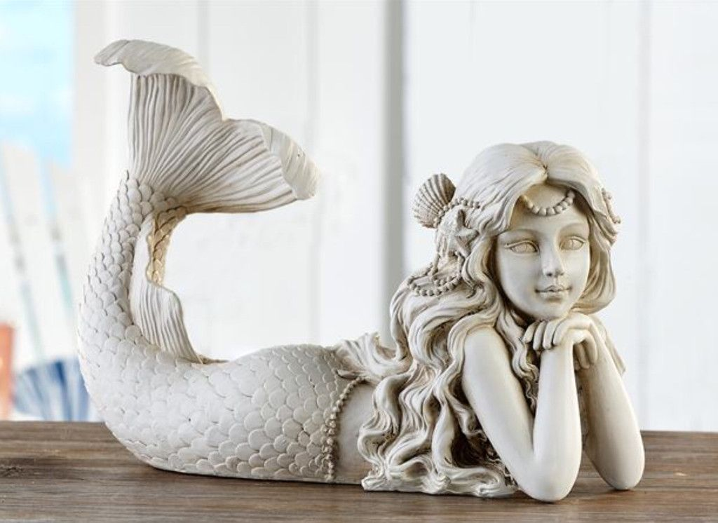 Beautiful Mermaid Garden Statue Lying