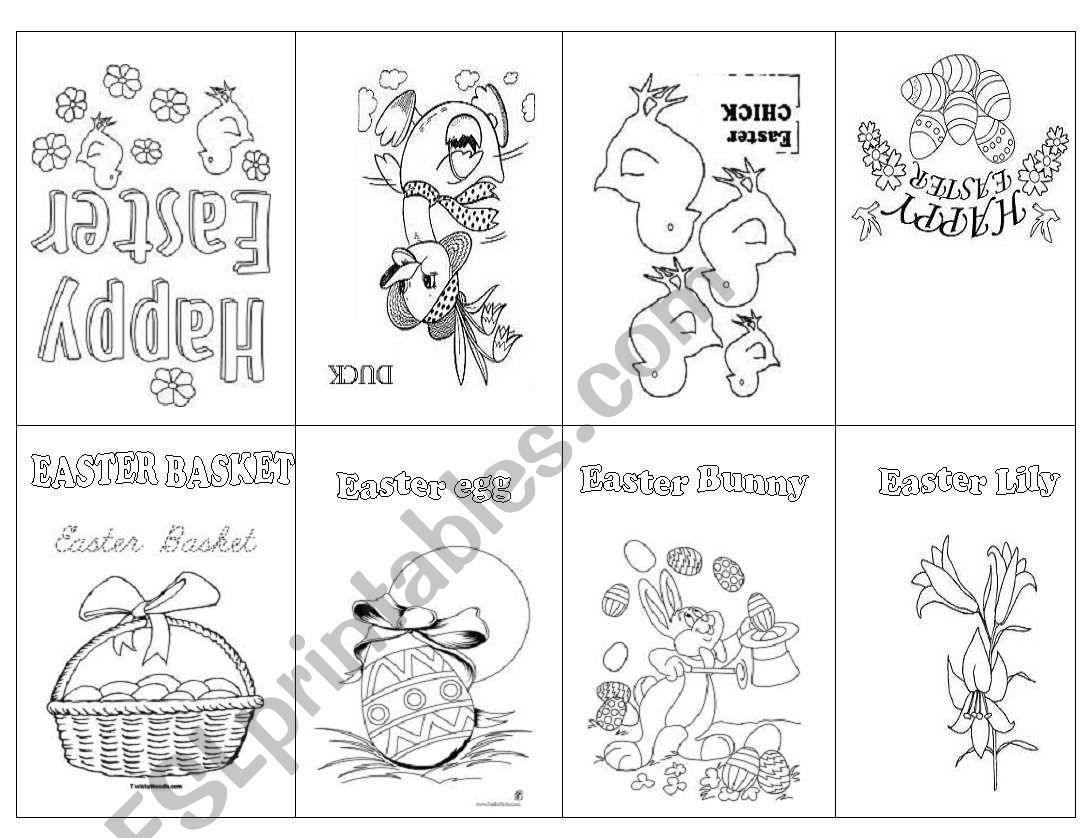It Is An Easter Booklet For The Very Beginning Learners